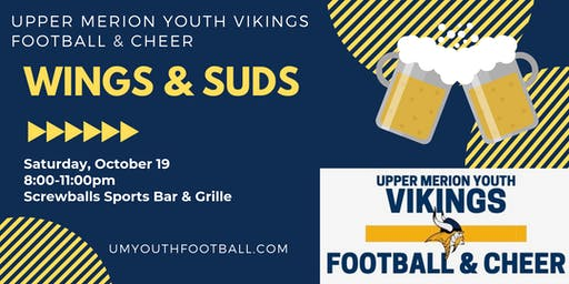 UM Youth Vikings Football & Cheer Wings & Suds