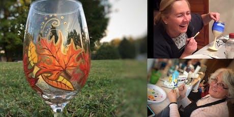 Fall Leaf Wine Glass Paint Night! tickets
