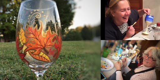 Copy of Fall Leaf Wine Glass Paint Night!