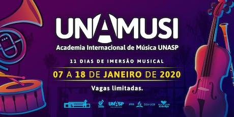 UNAMUSI - Academia Internacional de Música Unasp  [INSCRIÇÃO] ingressos