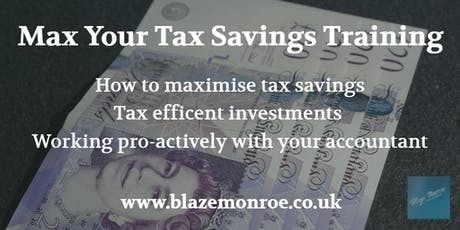 Max Your Tax Savings Training tickets