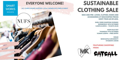 Smart Works Newcastle Sustainable Clothing Sale - EARLY BIRD SHOPPING EVENT