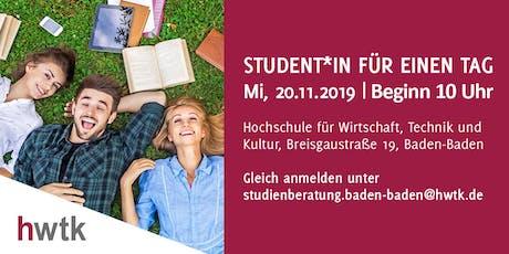Student*in für einen Tag Tickets