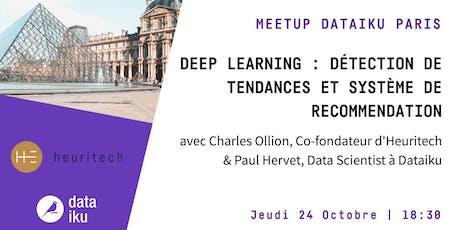MeetUp Deep Learning : détection de tendances et système de recommendation billets