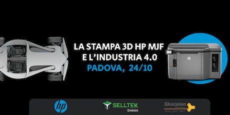 Evento | La stampa 3D HP MJF e l'industria 4.0 biglietti