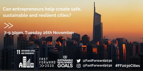 Can entrepreneurs help create safe, sustainable and resilient cities? tickets