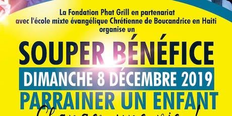 Souper-bénéfice '' Parrainer un enfant, changer une vie!!'' tickets