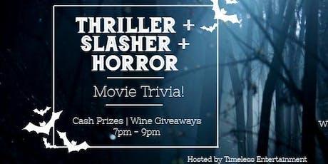 Thriller + Slasher + Horror = A Halloween Movie Trivia Night! tickets