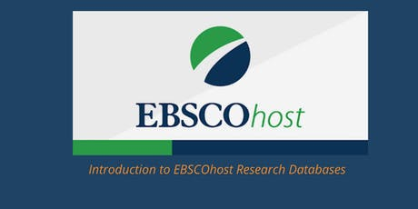 Introduction to  EBSCOhost Research Databases tickets