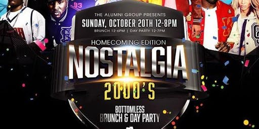 Nostalgia: The 2000's Bottomless Brunch & Day Party - Homecoming Edition