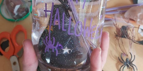 Spooky Half-Term Crafty Kids Upcycled Halloween Snow Globes Workshop at West Elm Westfield West London tickets