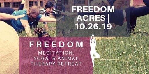 Freedom Meditation, Yoga, & Animal Therapy Retreat