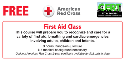 Red Cross Basic First Aid (no CPR)