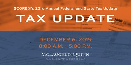 SCOREs 23rd Annual Federal and State Tax Update tickets