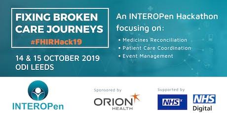 Fixing Broken Care Journeys: an INTEROPen Hackathon tickets