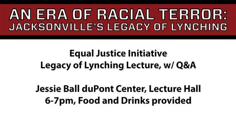 Equal Justice Initiative, Legacy of Lynching Lecture, w/ Q&A tickets