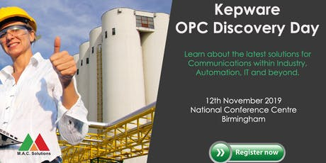 Kepware OPC Discovery Day 2019 tickets