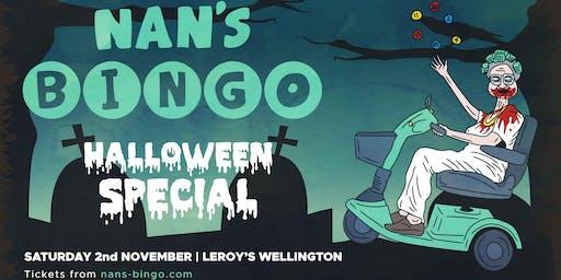 Nan's Bingo Halloween - Wellington