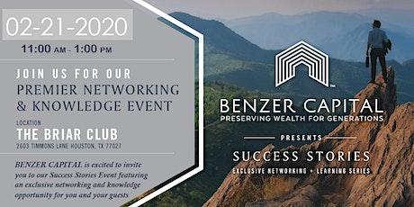Benzer Capital  Presents Success Stories 2020 tickets