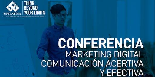 Conferencia Mercadeo - Comunicación asertiva y efectiva.