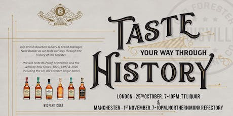 Old Forester - Taste Through History - London tickets