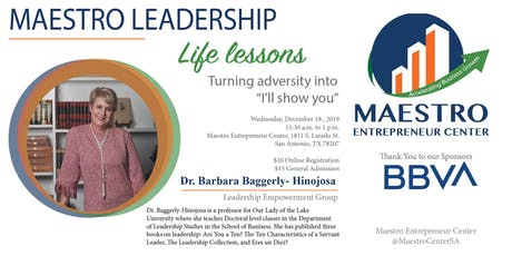 Life Lessons with Dr. Barbara Baggerly-Hinojosa tickets