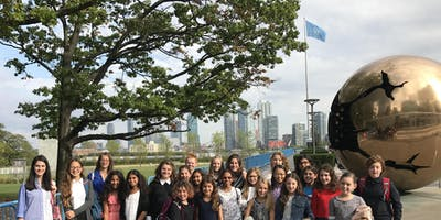 Camp United Nations for Girls NYC 2020 featuring a Day at UN Headquarters