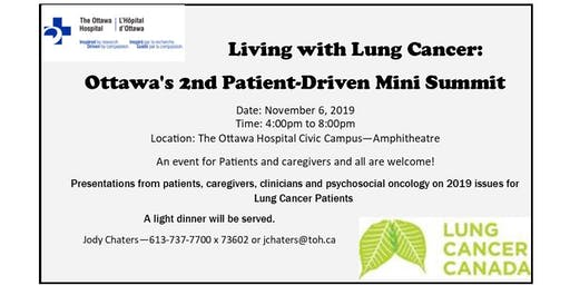 Living with Lung Cancer - Ottawa's 2nd Patient-Driven Mini Summit