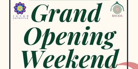 The Rhoda Masjid Grand Opening Weekend tickets