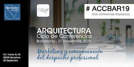 Arquitectura Ciclo de Conferencias Barcelona #ACCBAR entradas