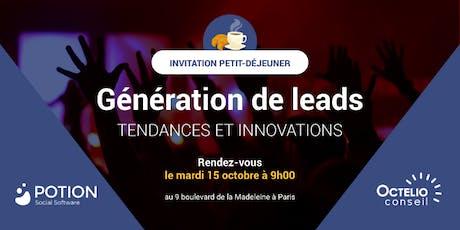 [PETIT-DÉJEUNER PARIS] Génération de leads : Tendances et Innovations billets