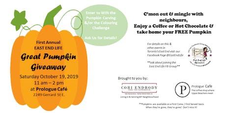 First Annual Great Pumpkin Giveaway - Toronto's Upper Beach tickets
