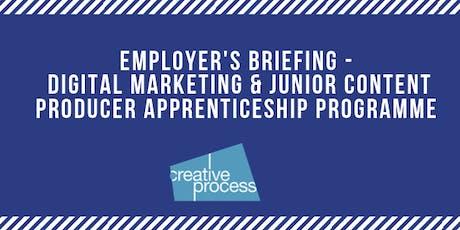 Employer's Briefing Event - Digital Marketing & Content Producer Apprenticeship Programme tickets