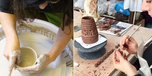 Beginners Intro to Pottery Taster Class Saturday 23rd November 1-5.30pm