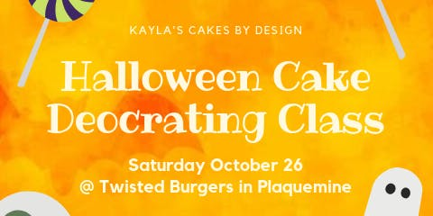 Halloween Cake Deocrating Class Kid Friendly