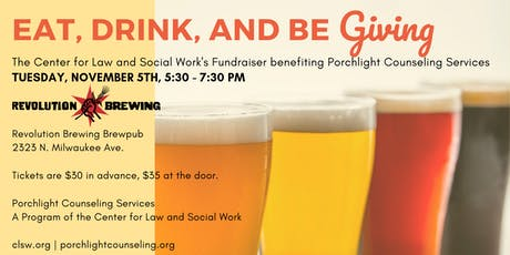 Eat, Drink, and be Giving! A Fundraiser for Porchlight Counseling Services tickets