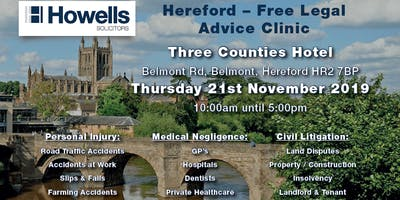 Howells Free Legal Advice Clinic - Personal Injury & Medical Negligence