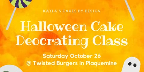 Halloween Cake Decorating Class Ages 13+