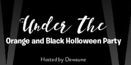 Black and Orange Holloween Color Mob Party biglietti