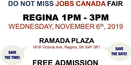 Regina Job Fair – November 6th, 2019 tickets