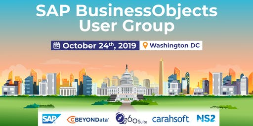 SAP BUSINESSOBJECTS USER GROUP WASHINGTON DC