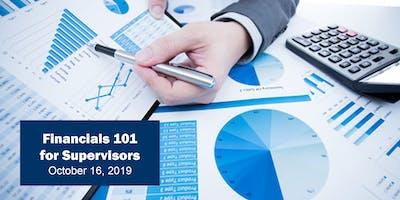Financials 101 for Supervisors