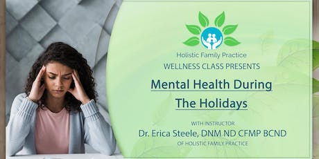 Mental health during the holidays tickets