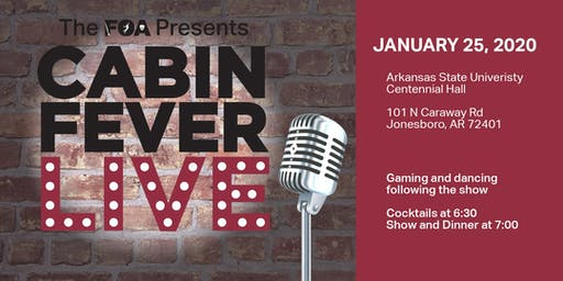 The Foundation of Arts Presents Cabin Fever Live 2020
