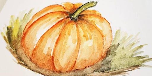 Watercolor  Pumpkin Workshop