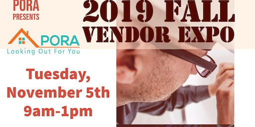 PORA Fall Vendor Expo