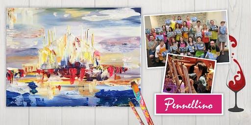 Evento di pittura social - Milano - pittura astratta