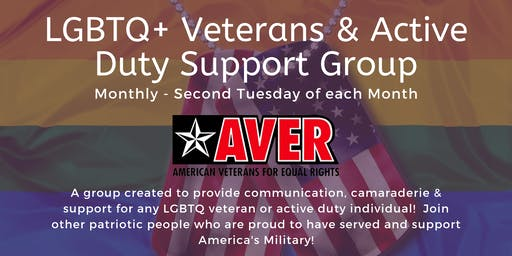LGBTQ+ Veterans & Active Duty Monthly Support Group