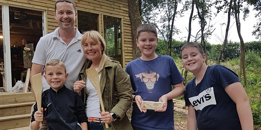 Family Woodcraft Session - Hand Carve an Egg Flipper (spatula) from a log