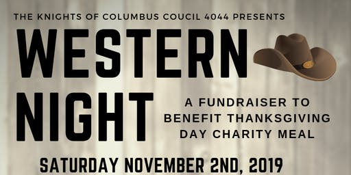 Western Night, a fundraiser to benefit K of C Thanksgiving charity meal